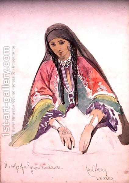 زوجة بدوي سوري للرسام الألماني كارل هاج