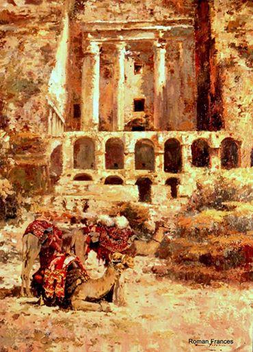 بيترا للرسام الاسباني رومان فرانسيس ، مقتنيات المتحف الوطني الاردني للفنون الجميلة